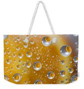 Orange Water Drops Weekender Tote Bag