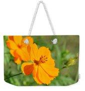 Orange Wildflower Weekender Tote Bag