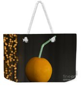 Orange With Straw Weekender Tote Bag