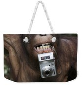 Orangutan With Tourists Camera Weekender Tote Bag