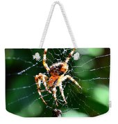 Orb Weaver And Lunch Weekender Tote Bag