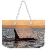 Orca At Sunset Weekender Tote Bag
