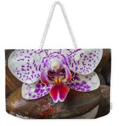 Orchid On Stack Of Rocks Weekender Tote Bag