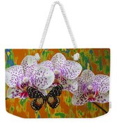 Orchids With Speckled Butterfly Weekender Tote Bag