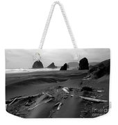 Oregon Coast Black And White Weekender Tote Bag
