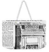 Organ Ad, 1870 Weekender Tote Bag
