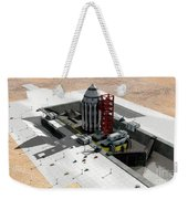 Orion-drive Spacecraft On A Remote Weekender Tote Bag by Rhys Taylor