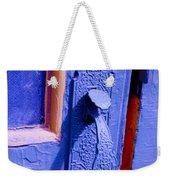 Ornate Blue Handle 2 Weekender Tote Bag