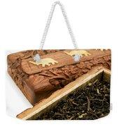 Ornate Box With Darjeeling Tea Weekender Tote Bag by Fabrizio Troiani