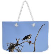 Osprey With Catch I Weekender Tote Bag
