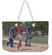 Ouch Baseball Foul Ball Digital Art Weekender Tote Bag