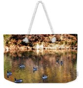Out For A Swim Weekender Tote Bag by Bill Cannon