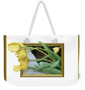 Out Of Frame Yellow Tulips Weekender Tote Bag
