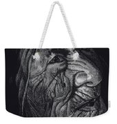 Out Of Greaheadedness Wisdome Comes Forth Weekender Tote Bag by Yenni Harrison