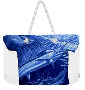Out Of Sight Mens Blue Shirt Weekender Tote Bag