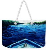 Out On The Boat Weekender Tote Bag