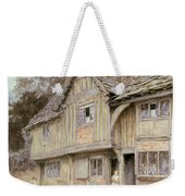 Outside A Timbered Cottage Weekender Tote Bag