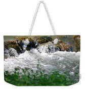 Over The Stones The Water Flows Weekender Tote Bag