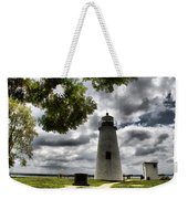 Overcast Clouds At Turkey Point Lighthouse Weekender Tote Bag