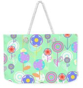 Overlayer Flowers  Weekender Tote Bag