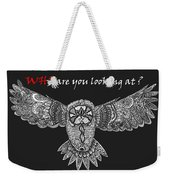 Owl In Flight Weekender Tote Bag