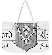 Oxford: Coat Of Arms Weekender Tote Bag