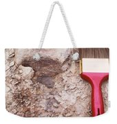 Paint Brush Next To Camarasaurus Weekender Tote Bag