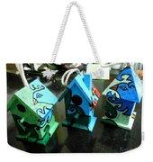 Painted Birdhouses Weekender Tote Bag