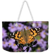 Painted Lady Among The Asters Weekender Tote Bag