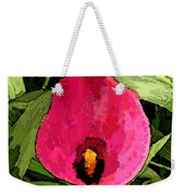Painted Pink Cala Lily Weekender Tote Bag