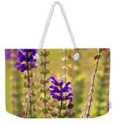 Painted Purple Sage Salvia Weekender Tote Bag