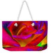 Painted Rose 1 Weekender Tote Bag