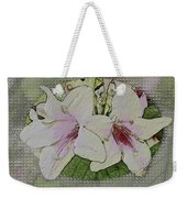 Painted Weigela Window Weekender Tote Bag
