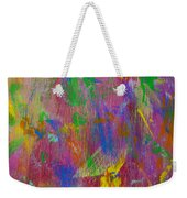 Painted Wooden Wall Weekender Tote Bag