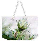 Painterly White Roses Weekender Tote Bag