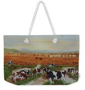 Painting Cows On Cors Caron Tregaron Weekender Tote Bag