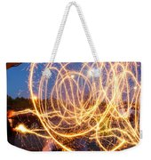 Painting With Sparklers Weekender Tote Bag by Gordon Dean II