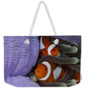 Pair Of Clown Anemonefish, Indonesia Weekender Tote Bag