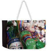Pair Of Large Puppets At The Surajkund Mela Weekender Tote Bag