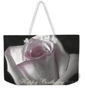 Pale Pink Rose Greeting Card.   Birthday Weekender Tote Bag