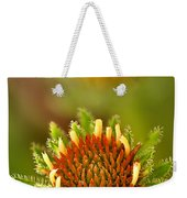 Pale Purple Coneflower Bud Weekender Tote Bag