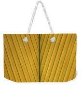 Palm Leaf Showing Midrib And Veination Weekender Tote Bag