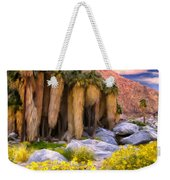 Palm Oasis And Wildflowers Weekender Tote Bag