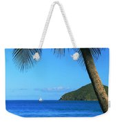 Palm Shaded Island Beach  Weekender Tote Bag