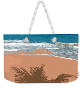 Palm Shadow On The Beach Weekender Tote Bag