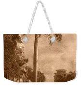 Palm Tree Weekender Tote Bag by Trish Tritz