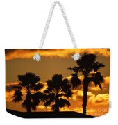 Palm Trees In Sunrise Weekender Tote Bag