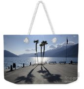 Palm Trees With Shadows Weekender Tote Bag