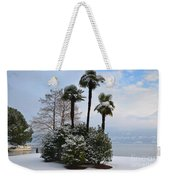 Palm Trees With Snow Weekender Tote Bag