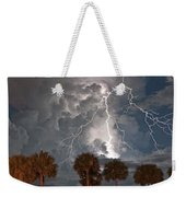Palms And Lightning  Weekender Tote Bag